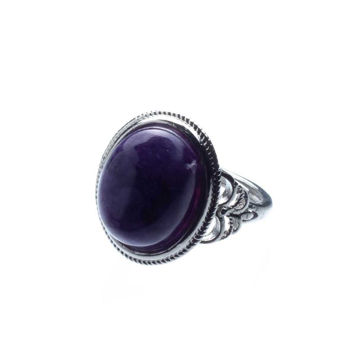 Кольцо с чароитом, безразмерное