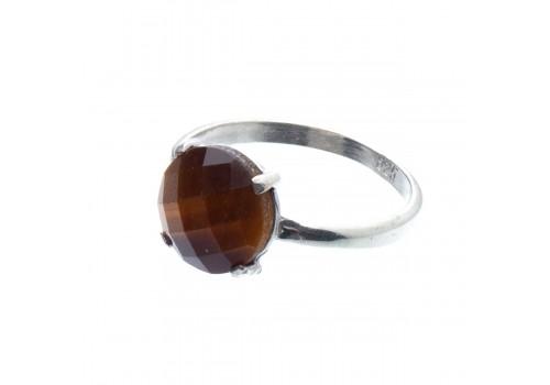 Кольцо из серебра с тигрововым глазом