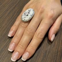 Кольцо из серебра с дендроагатом, безразмерное