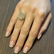 Комплект украшений из серебра с кварцем  волосатик