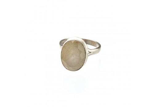 Кольцо из серебра с кварцем  волосатик, 19.5 размер