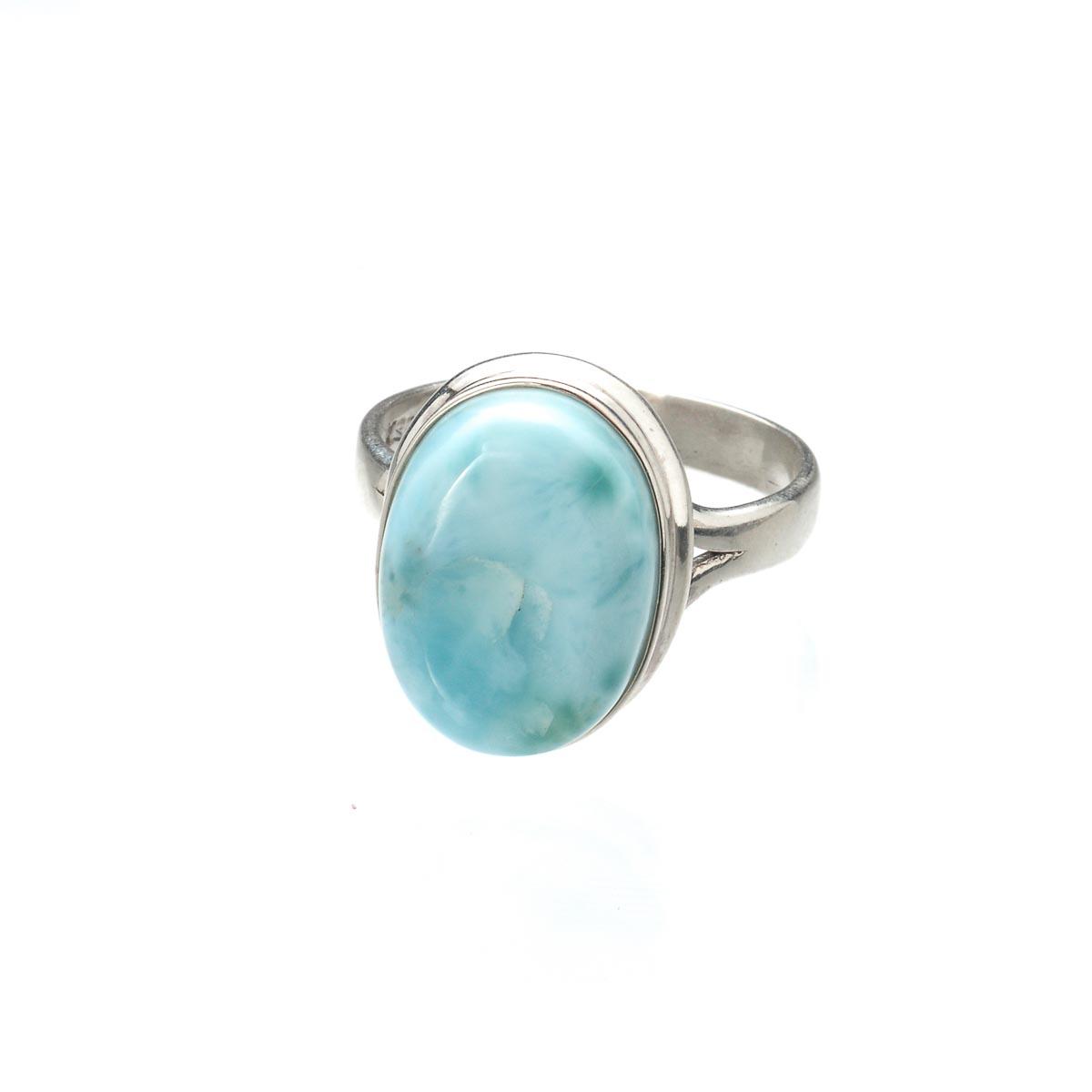 Кольцо с ларимаром из серебра