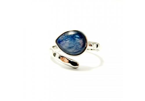 Кольцо из кианита, безразмерное