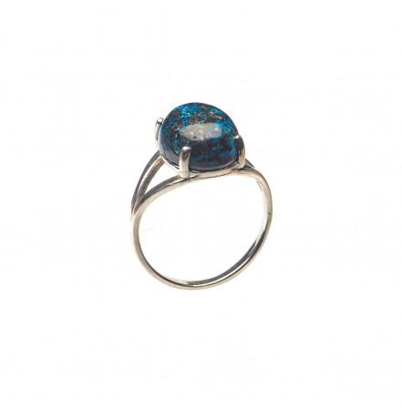 Кольцо с хризоколлой из серебра