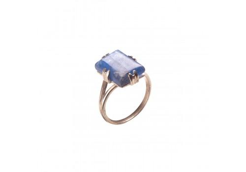 Кольцо с кианитом из серебра