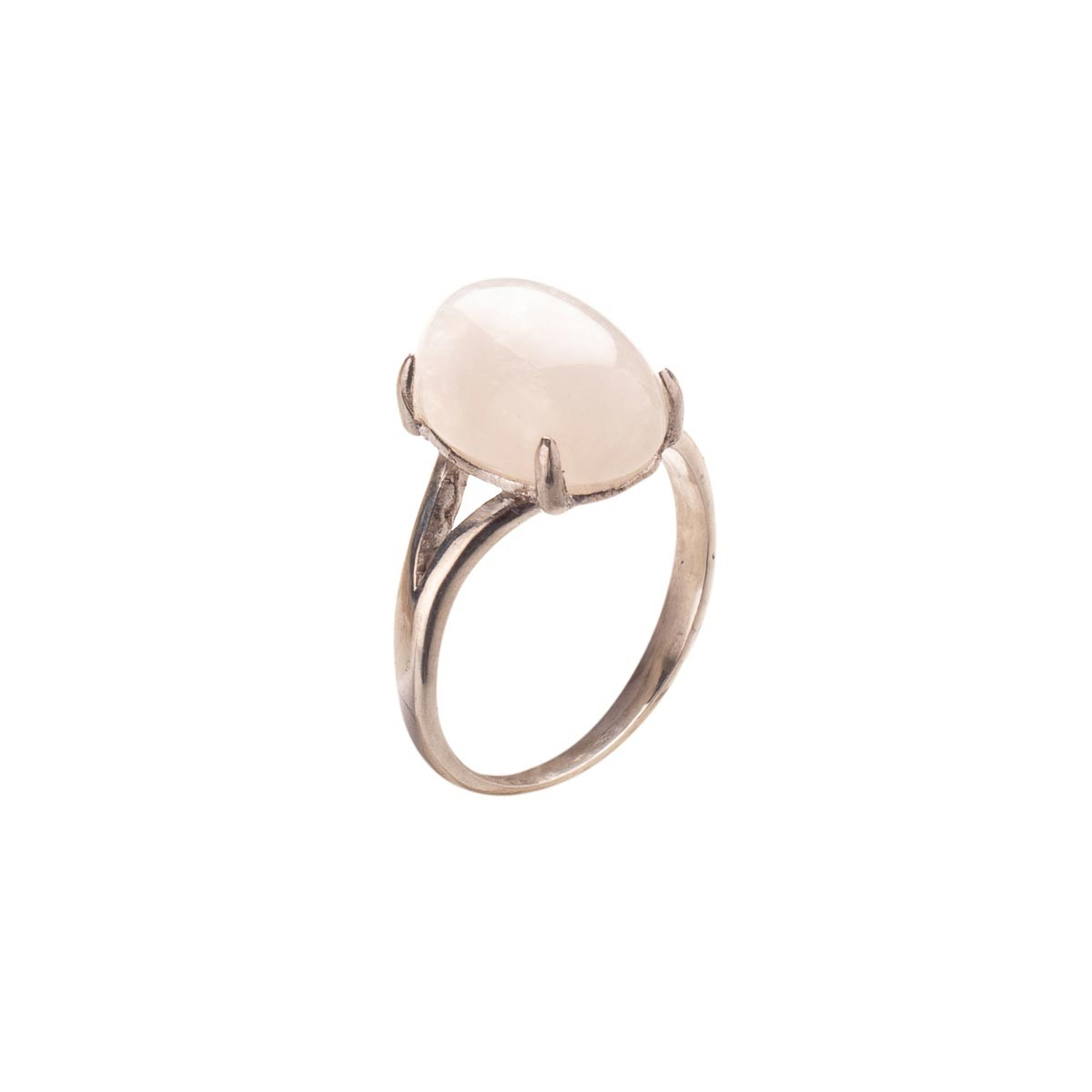 Кольцо  с натуральным адуляром  из серебра (лунный камень)