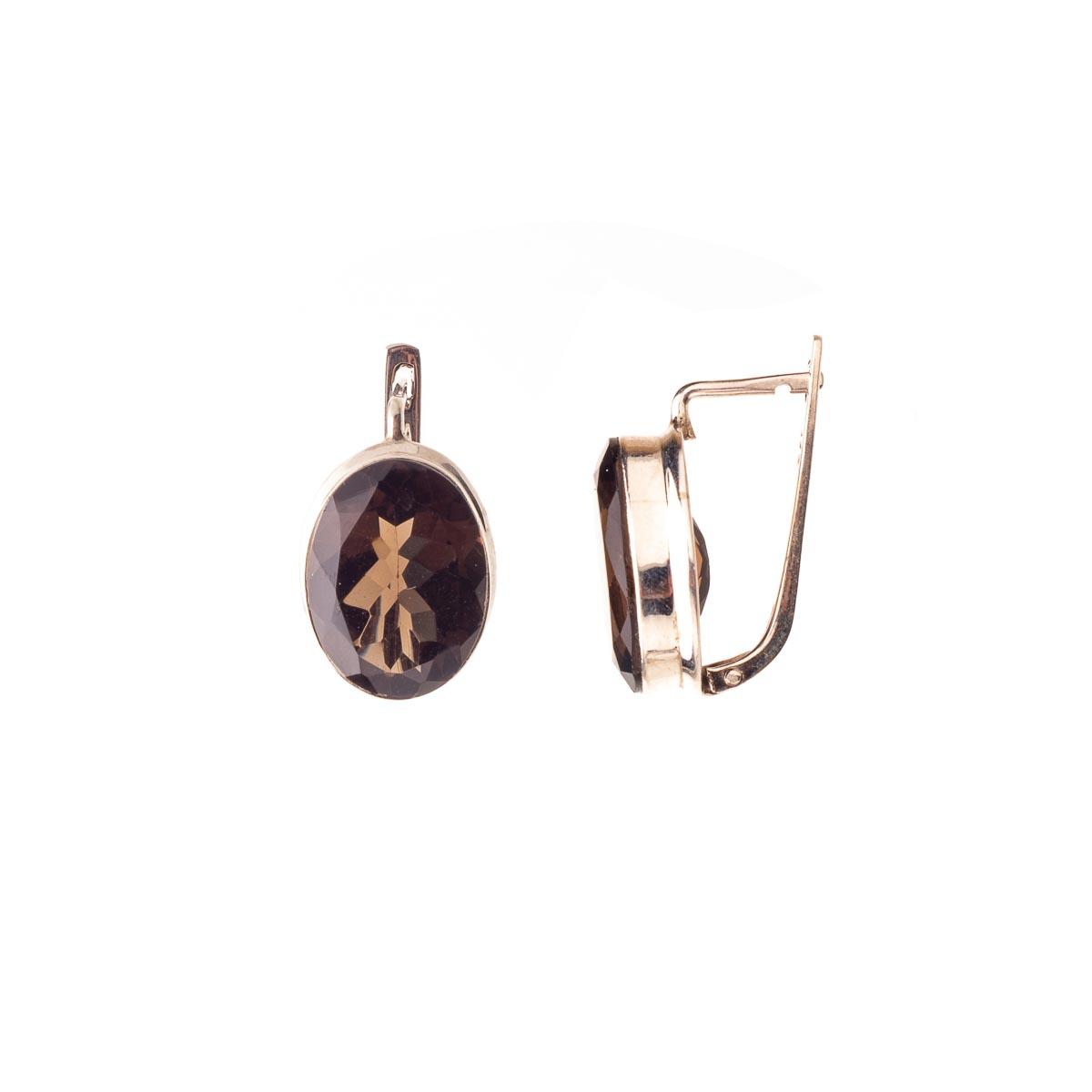 Комплект украшений с раухтопазом из серебра