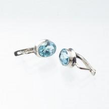 Комплект украшений из голубого топаза