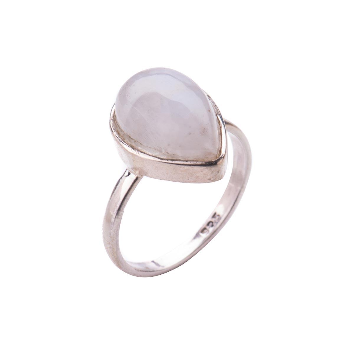 Комплект украшений  с натуральным адуляром (лунный камень) из серебра