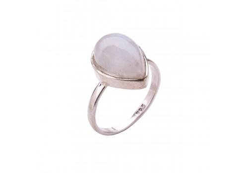 Кольцо  с натуральным адуляром (лунный камень) из серебра