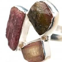 Кольцо  с турмалином из серебра