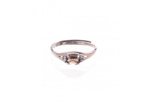 Кольцо  с натуральным турмалином