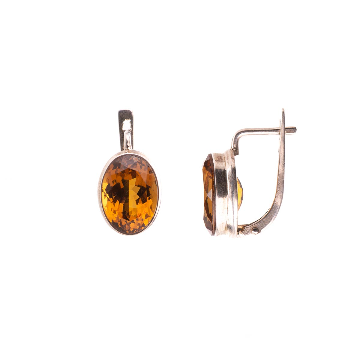 Комплект украшений с султанитом из серебра