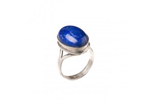 Кольцо с лазуритом из серебра