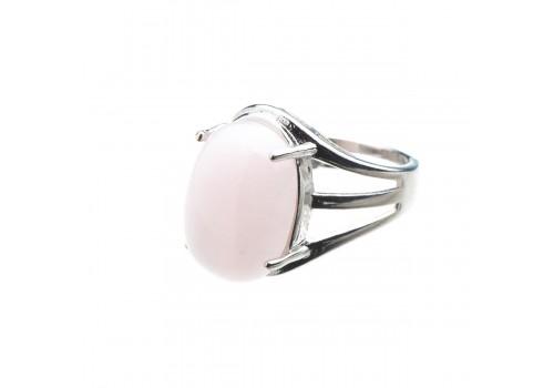 Кольцо из розового кварца, безразмерное
